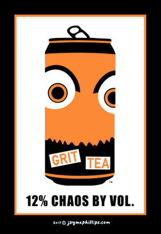 Grit Tea Poster by Jay McPhillips