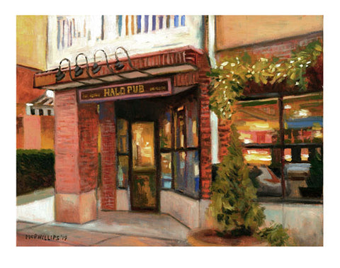 Halo Pub Giclee Print by James McPhillips