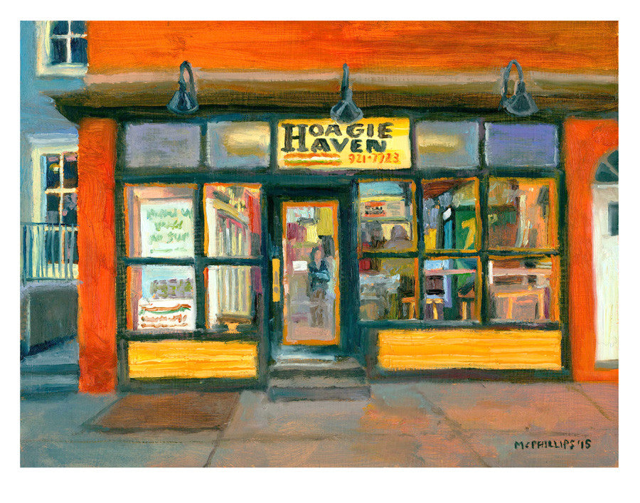 "Signed Limited Edition 11""x14"" Hoagie Haven 2015 Giclee Print by James McPhillips"