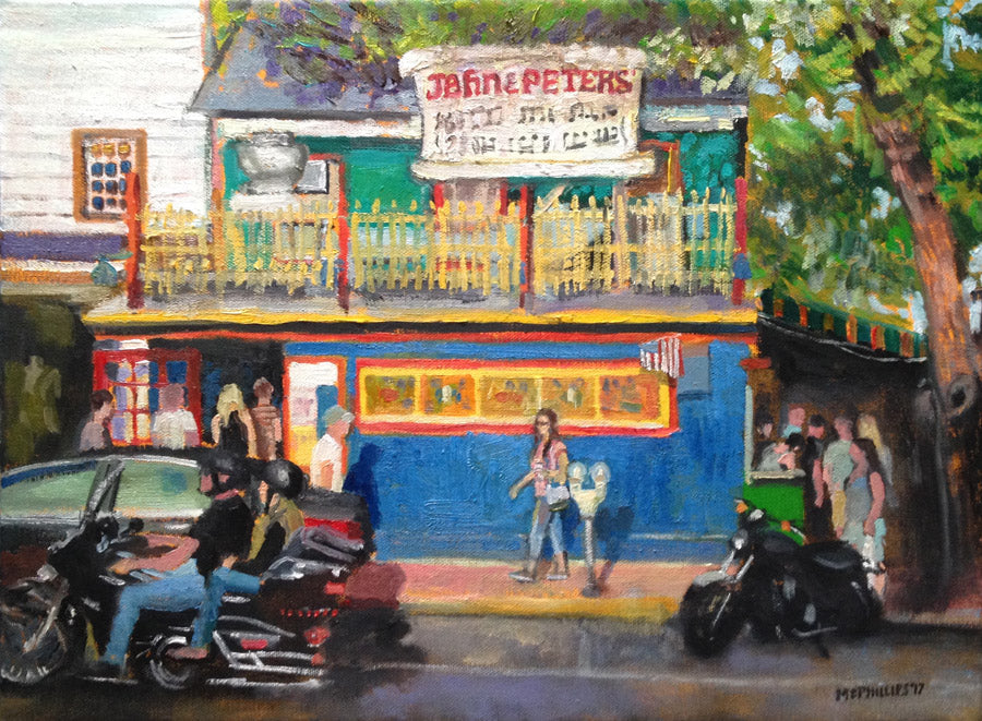Oil Painting of John & Peter's New Hope, PA by James McPhillips