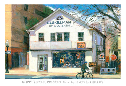 Kopp's Bicycle Shop Poster by James McPhillips