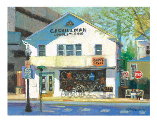 Kopp's Bicycle Shop Giclee Print