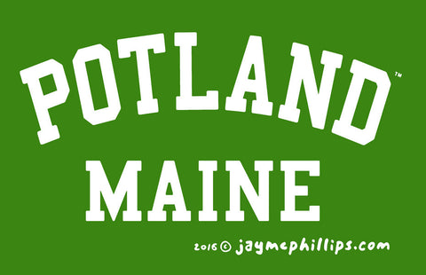 Potland, ME Sticker