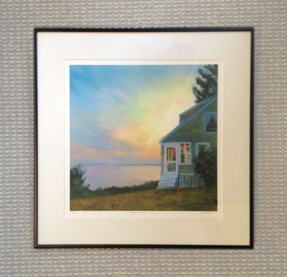 Framed Maine Sunset Giclee Print