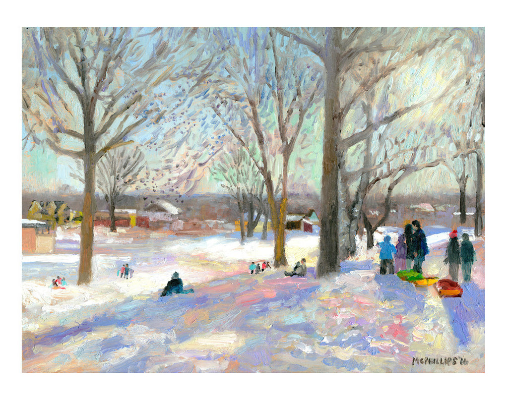 Doylestown Sledding Print