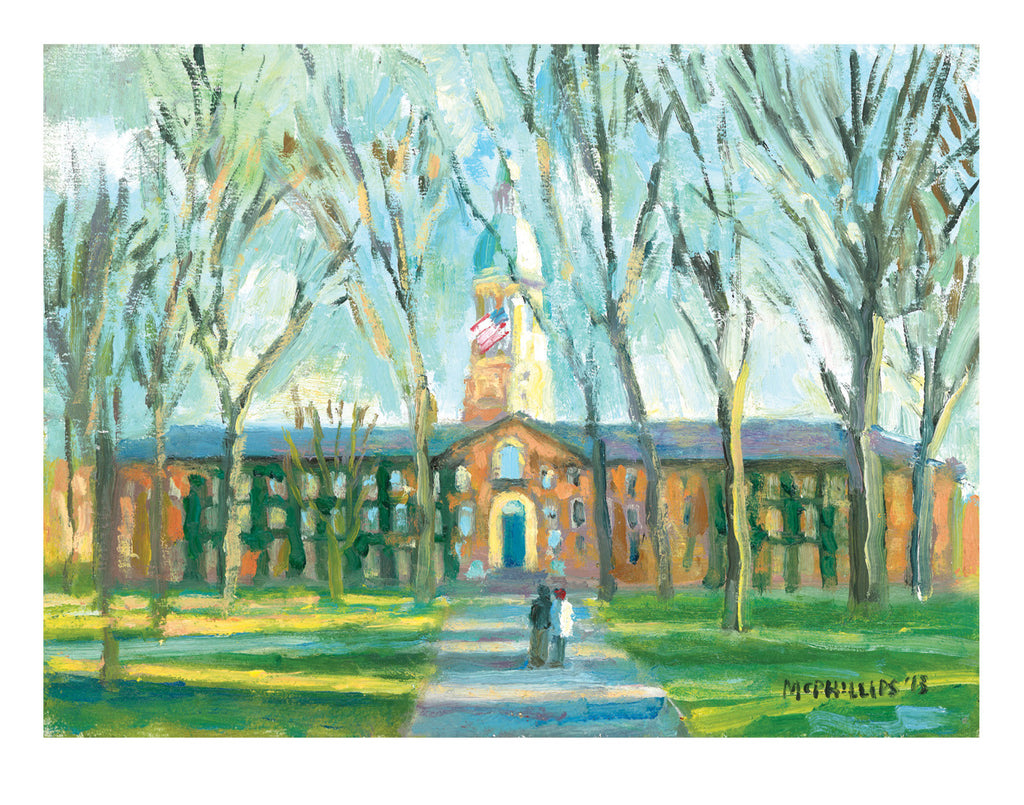 "Signed Limited Edition 11""x14"" Giclee Print of Princeton's Nassau Hall"