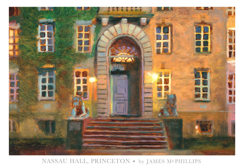 "Signed ""Princeton's Nassau Hall"" at Night Poster"