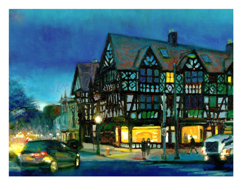 Nassau & Witherspoon, Princeton Signed Giclee Print