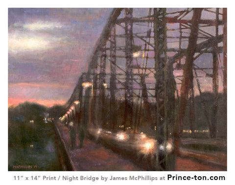 Night Bridge Giclee Print by James McPhillips