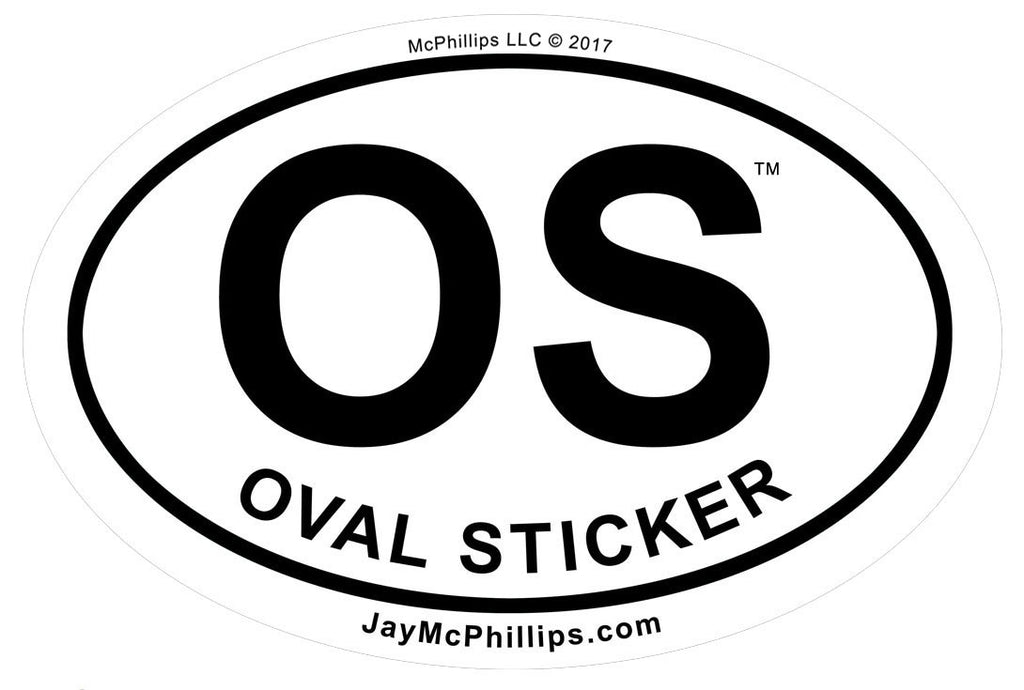 Oval Sticker by Jay McPhillips