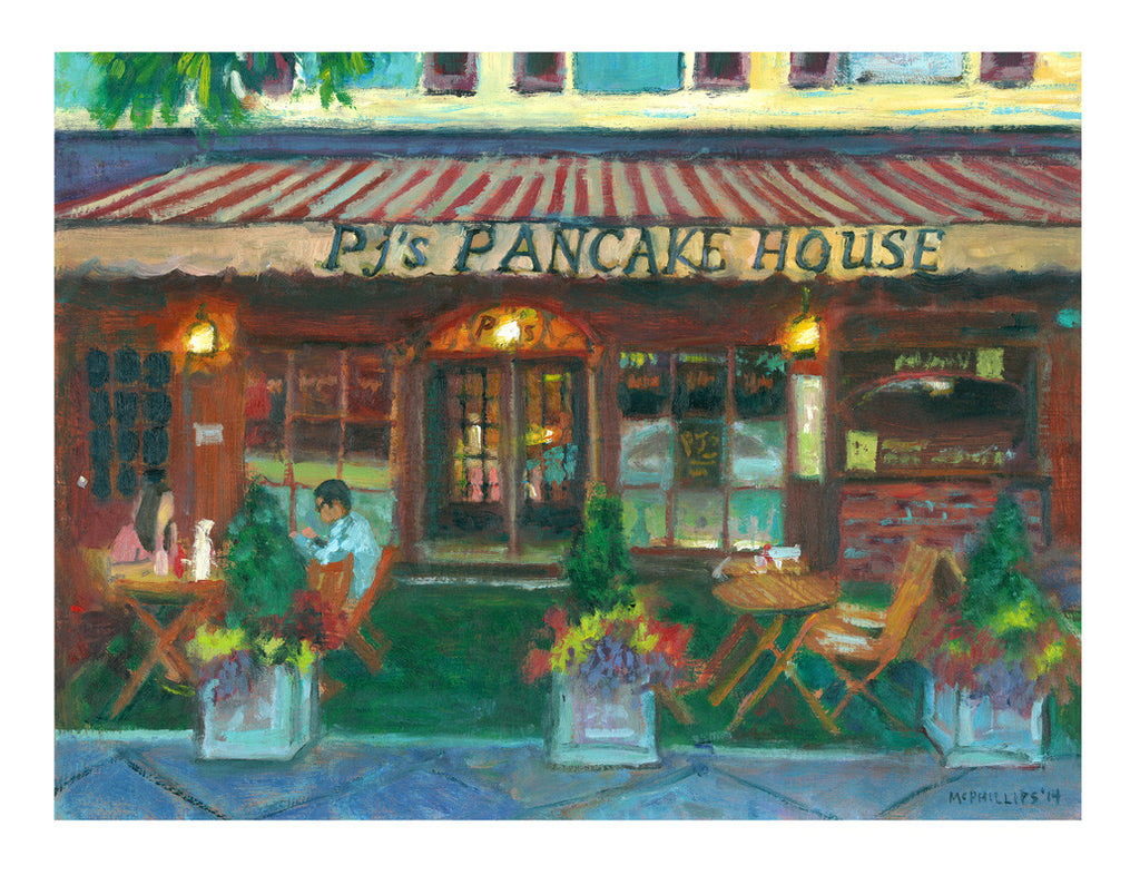 Signed Limited Edition Princeton's PJ's Pancake House Print