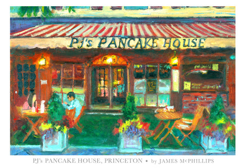 PJ's Pancake House Poster by James McPhillips
