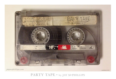 Party Tape Poster by Jay McPhillips