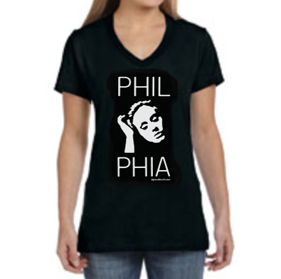 Phil-Adele-Phia Ladies V-Neck Shirt