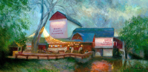 Original Bucks County Playhouse Oil Painting