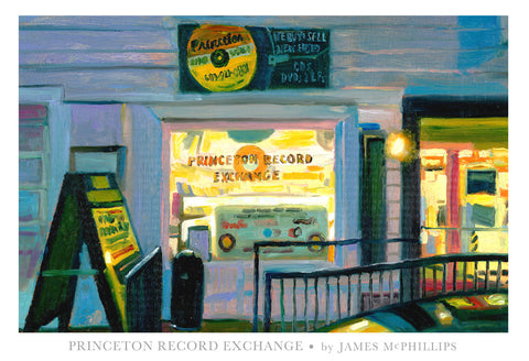 "Signed ""Princeton Record Exchange"" Poster"