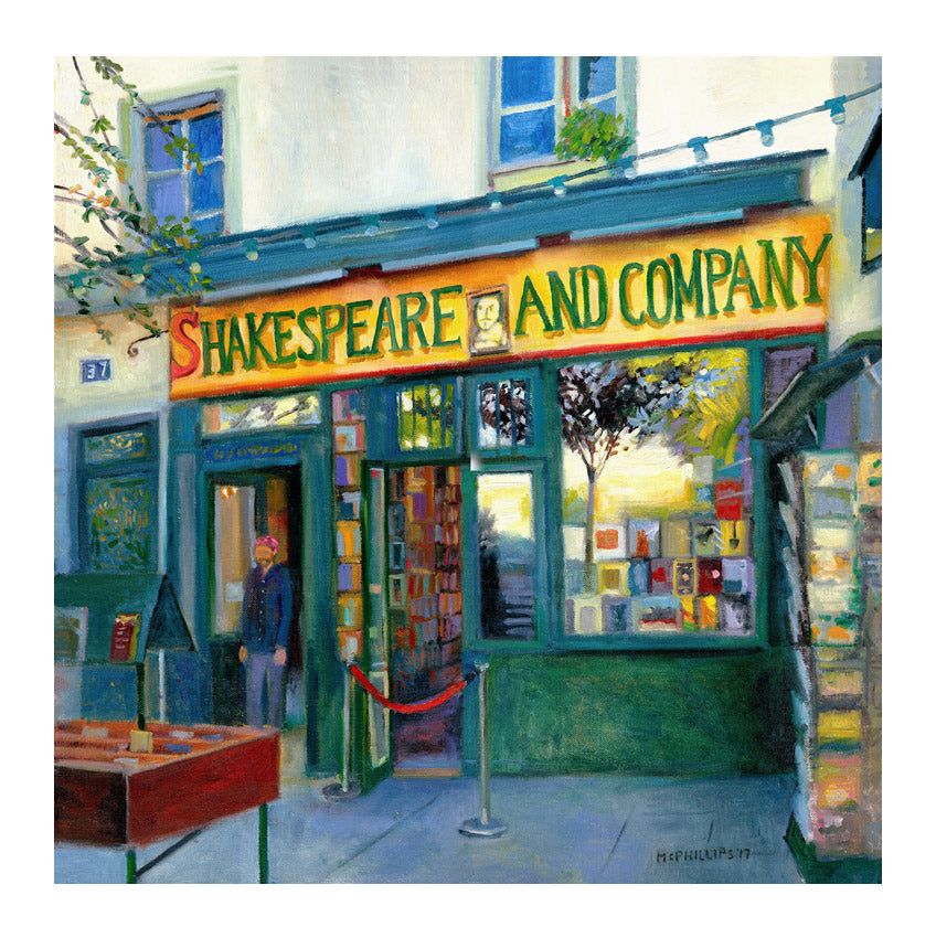 Shakespeare And Company (Paris) Giclee Print by James McPhillips