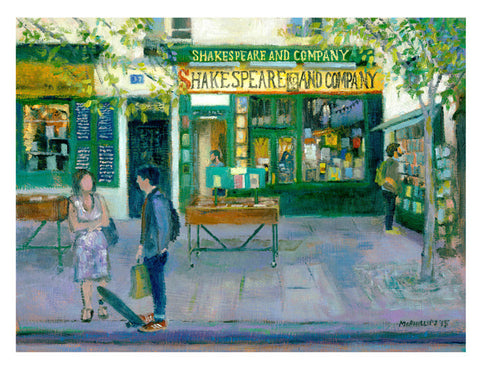 Signed Shakespeare And Company Giclee Print Limited Edition (300)