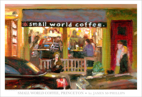 Small World Coffee Poster by Jay McPhillips