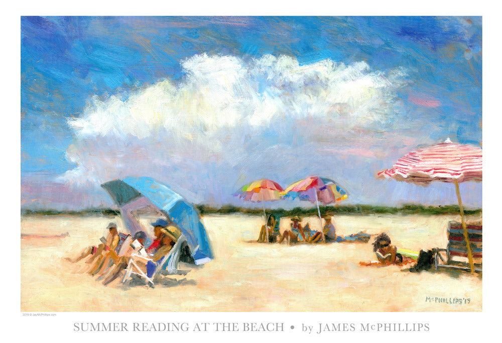 "Signed ""Summer Reading at The Beach"" Poster"