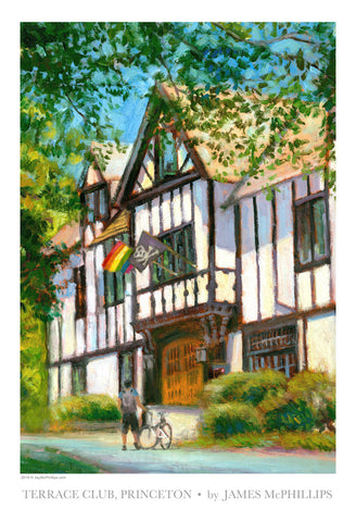 Princeton's Terrace Club Art Poster by Jay McPhillips