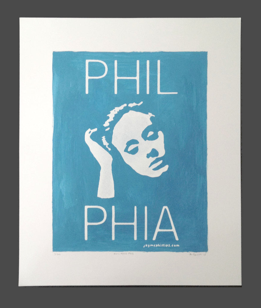 Phil-Adele-Phia Screen Print Painting by Jay McPhillips