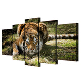Tableau jungle tigre