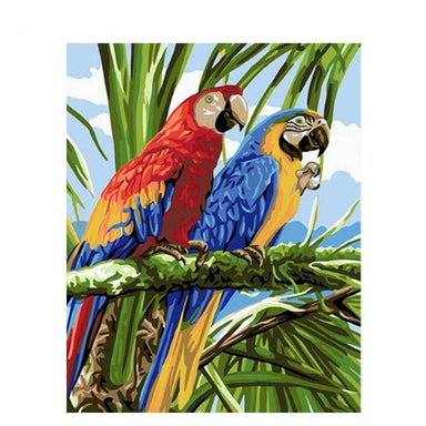 Tableau tropical perroquet