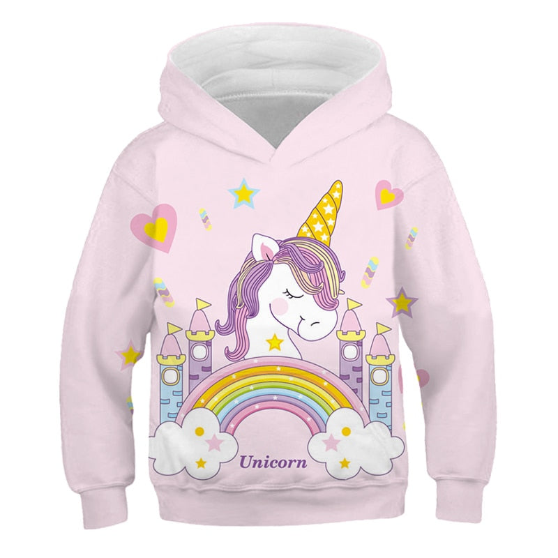 Sweat licorne enfant arc-en-ciel
