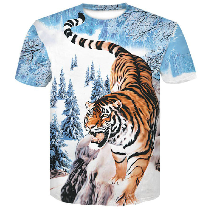 T-shirt tigre homme