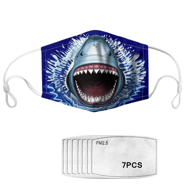 Masque de protection requin