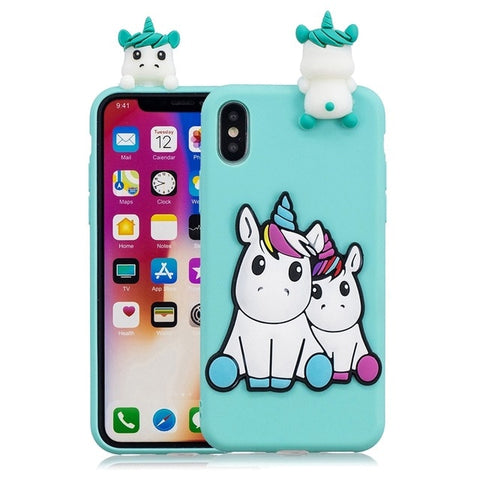 Coque iPhone se silicone licorne
