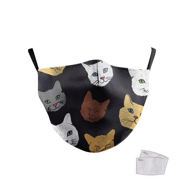 Masque de protection enfant motif chat
