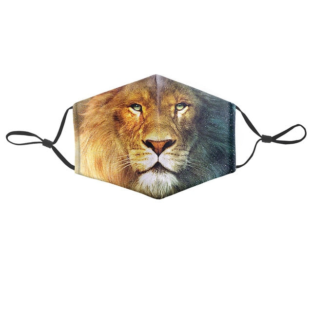 Masque réutilisable lion