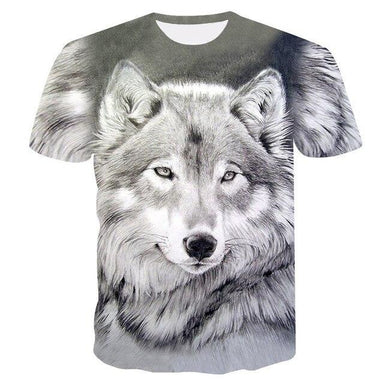 T shirt chien loup