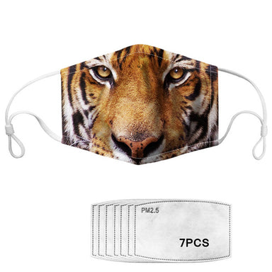 Masque lavable design tigre