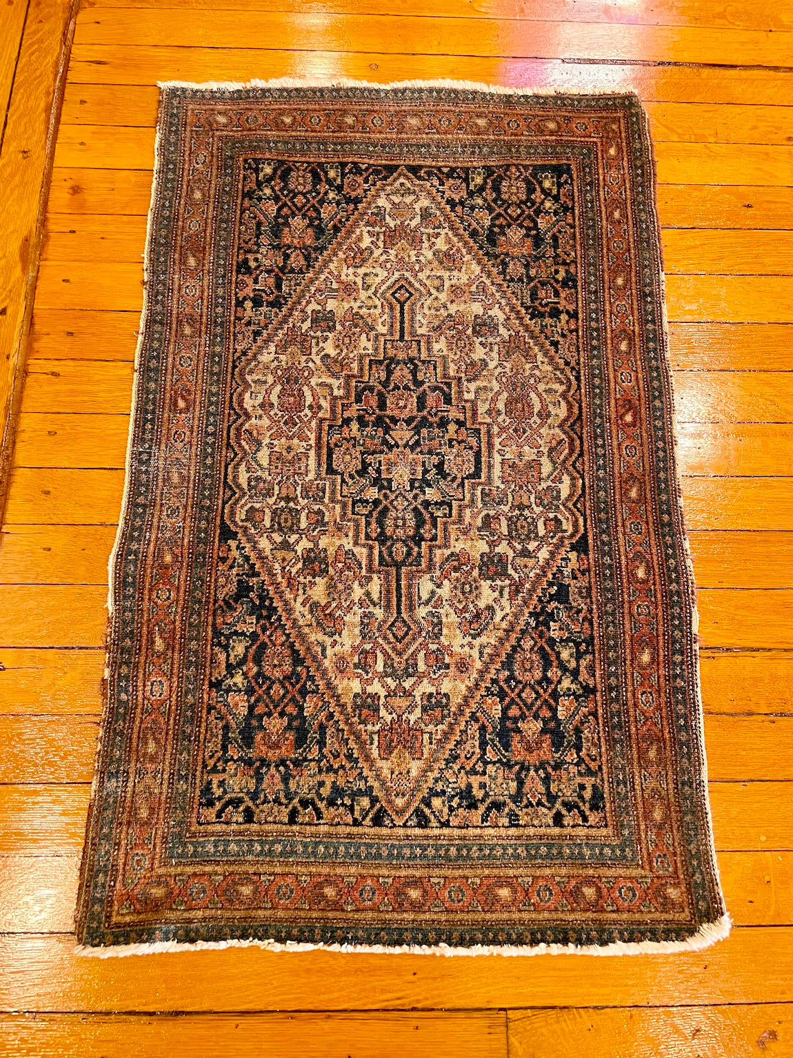 "Antique Persian Senneh Small Rug 2'0"" x 3'3"""