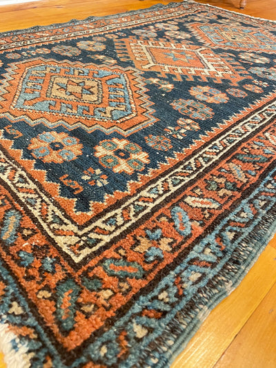 Antique Persian Veramin Small Rug 3'0 x 4'3