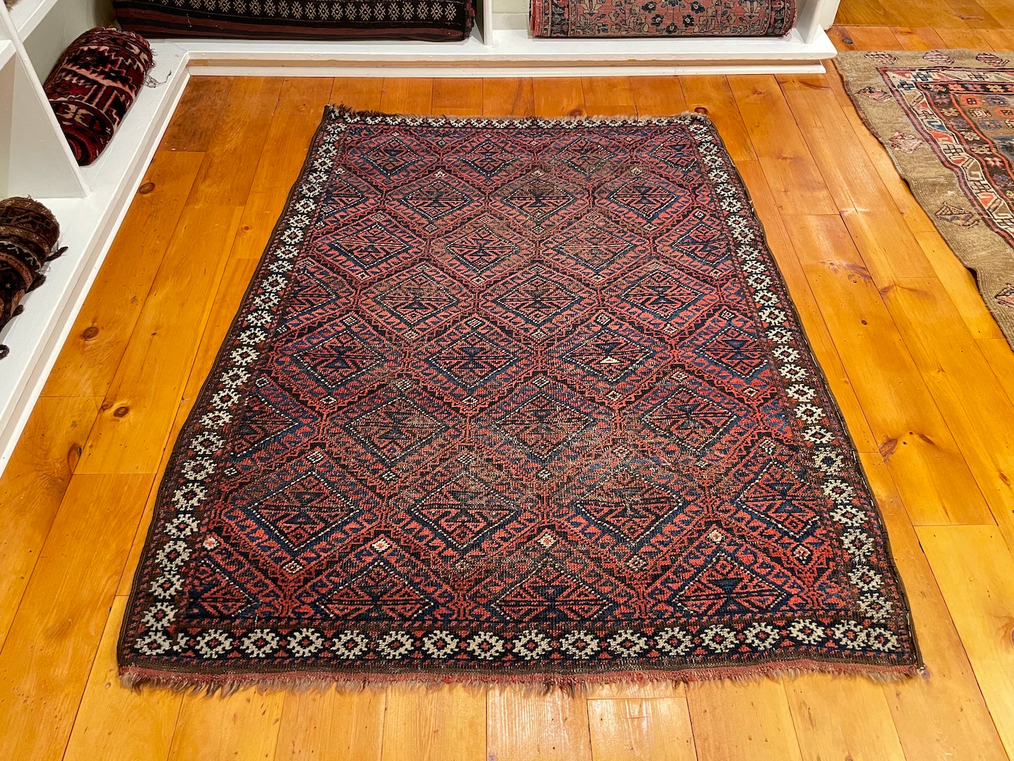 Antique Kurdish Rug 3'6 x 4'8
