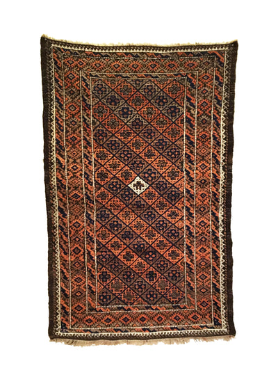 Antique Afghan Baluch Small Rug 2'9 x 4'2