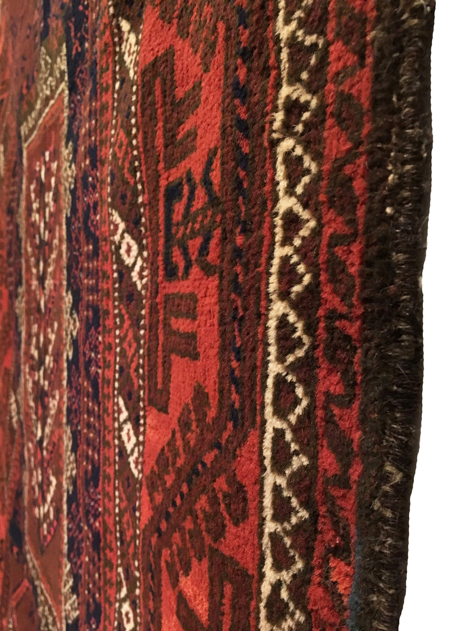 Antique Afghan Baluch Long Rug 3'9 x 6'10