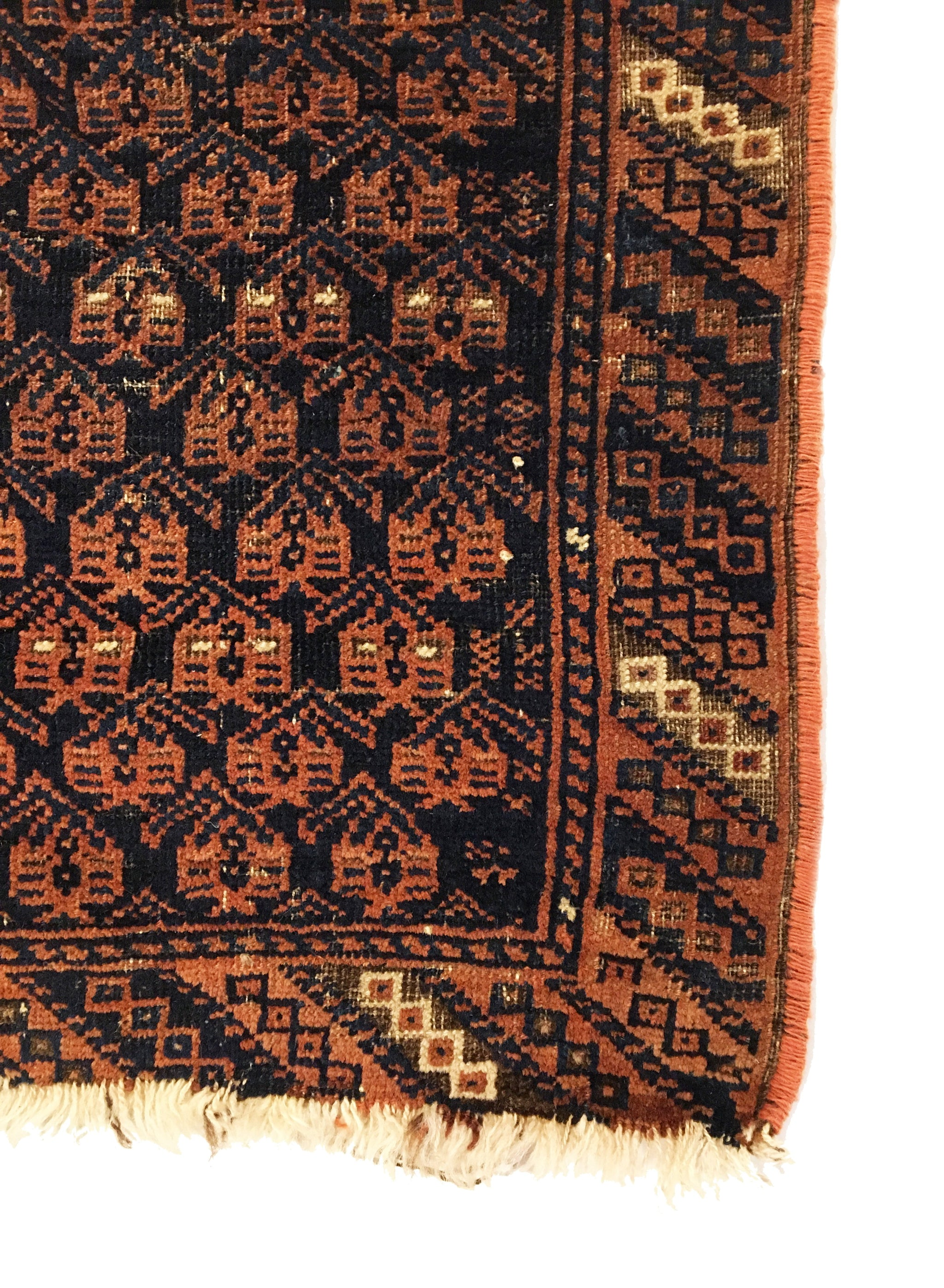 Antique Afghan Baluch Small Rug 1'7 x 2'7