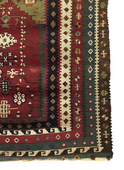 Antique Anatolian Turkish Small Rug 2'8 x 3'6