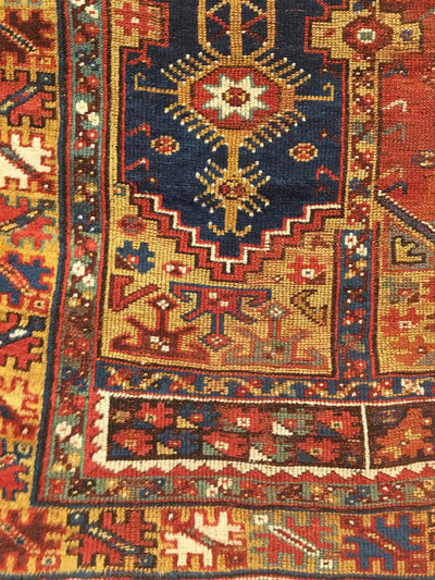 Antique Anatolian Turkish Rug 4'2 x 5'5