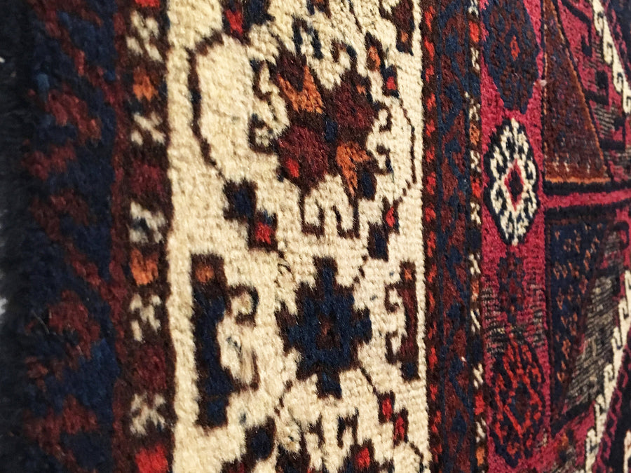Antique Anatolian Turkish Yoruk Rug 3'3 x 6'3
