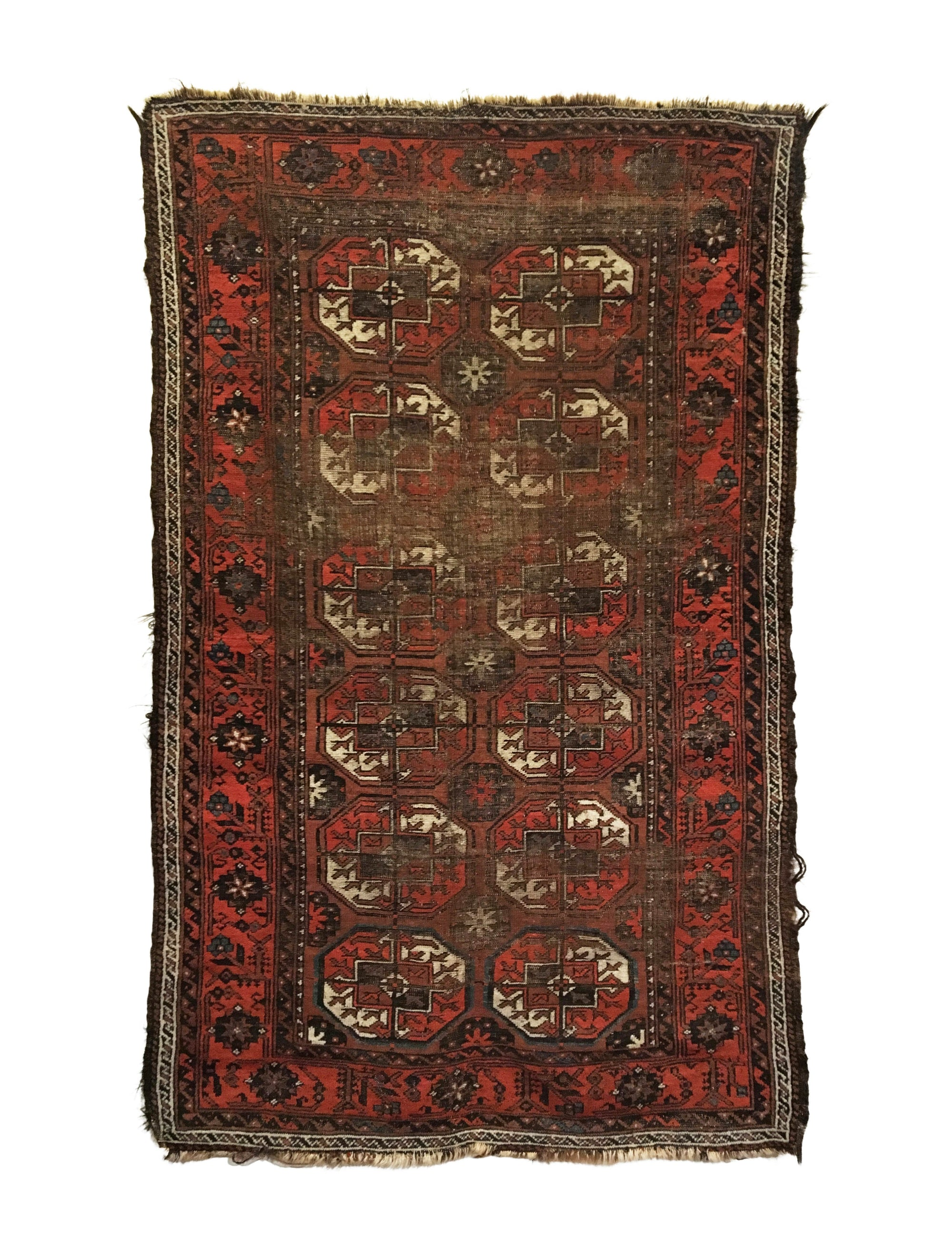 Antique Distressed Baluch Long Rug 4'0 x 6'6