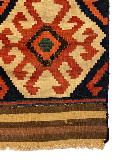 Antique Caucasian Kilim Small Rug 3'0 x 3'10