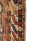 Antique Caucasian Shirvan Small Rug 3'4 x 4'6