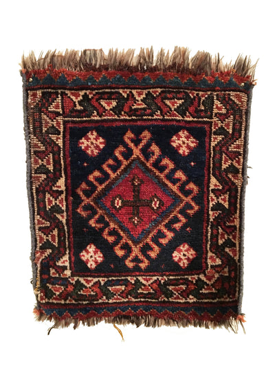 Antique Luri Square Rug 1'6 x 1'10