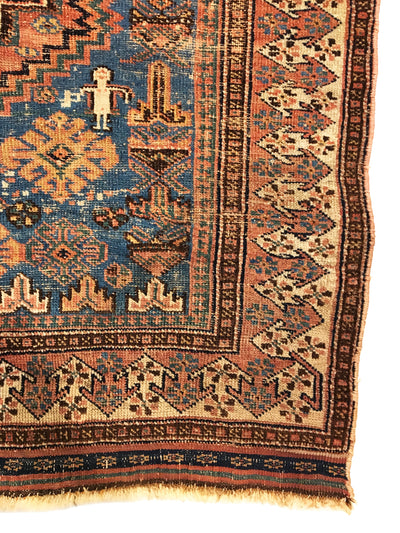 Antique Persian Afshar Rug 4'3 x 6'0